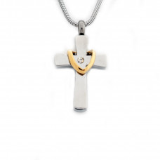 Silver Draped Cross Pendant