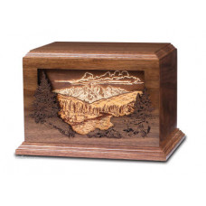 Dimensional Mountain Scene Urn