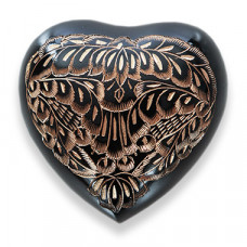 Black Engraved Heart