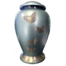 CFC-Teal Butterfly Urn