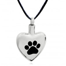 Heart with Single Paw Print